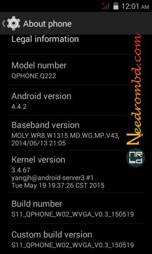 Qphone Q222 Rom