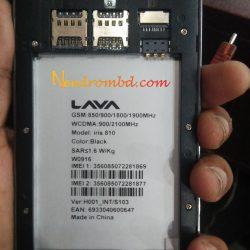 Lava Iris 810 Firmware