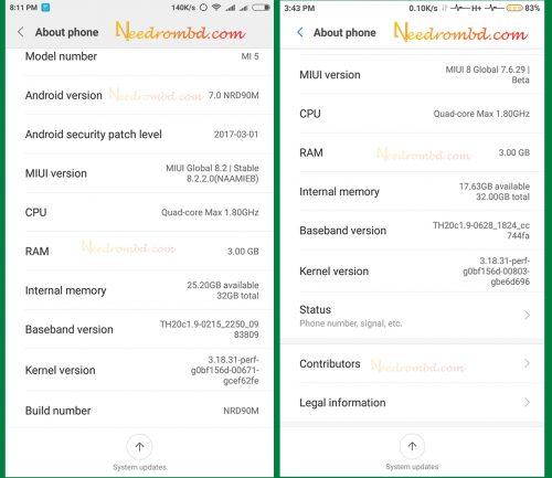 Xiaomi Mi 5 Firmware
