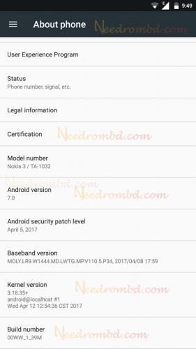 Nokia 3 rom