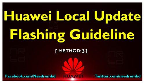 Huawei local Update