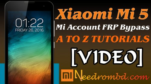 Remove Mi FRP Account