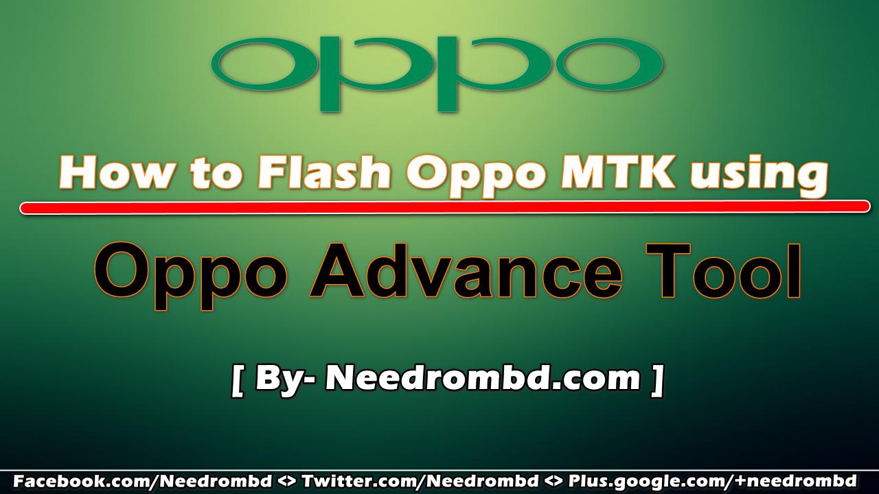 using Oppo Advance Tool