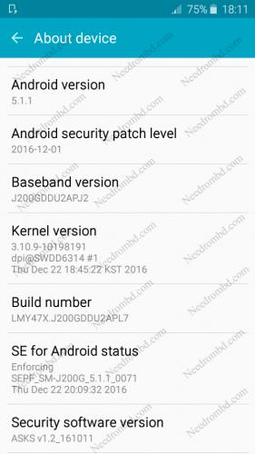 Samsung J2 [J200GDDU2APL7] Fast Download Rom   Needrombd