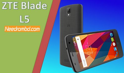 ZTE Blade L5 MT6572 Flashing Rom | Needrombd