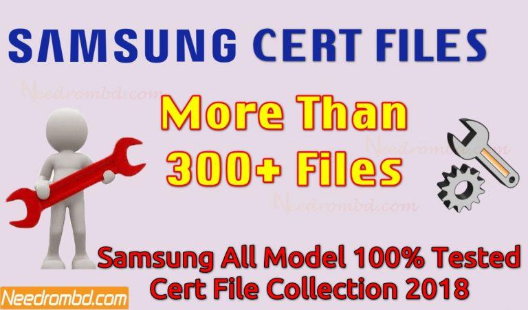 Samsung Cert File