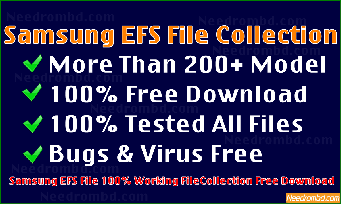 Samsung All Model EFS File Collection [FREE] | Needrombd
