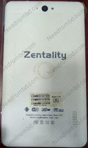 Zentality C-723 MT6572 China Tablet Firmware | Needrombd