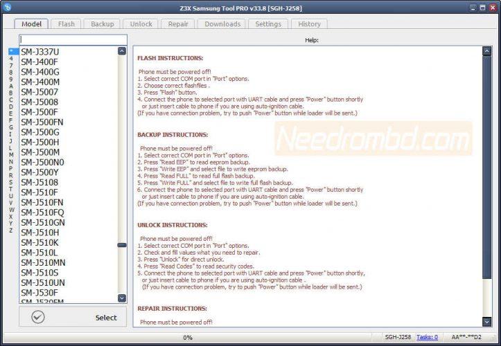 Z3x Samsung Tool Pro 33.8