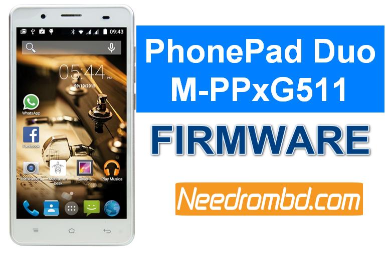 Mediacom PhonePad Duo G511 MT6735M Firmware | Needrombd