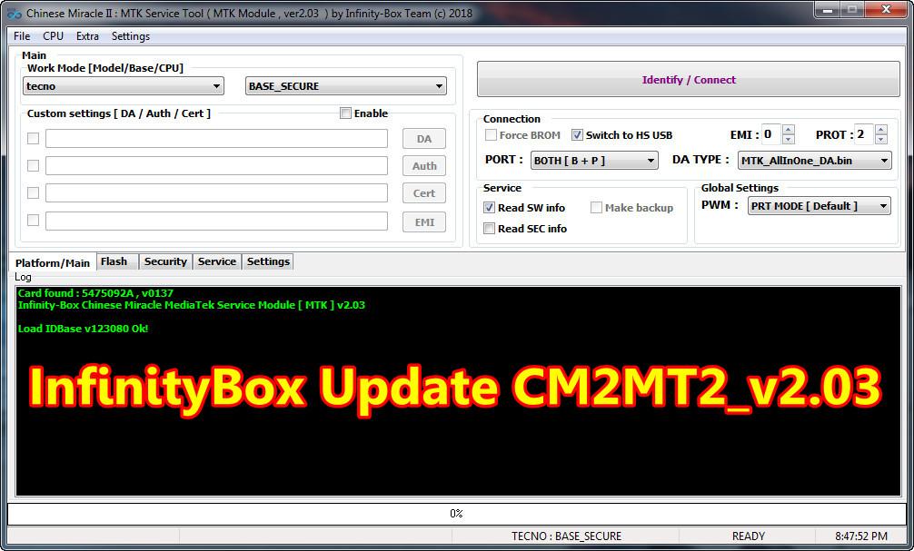 InfinityBox install CM2MT2 v2.03