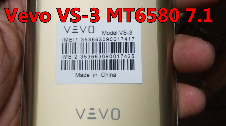 Vevo VS-3 MT6580 7 1 Flash File Free Download | Needrombd