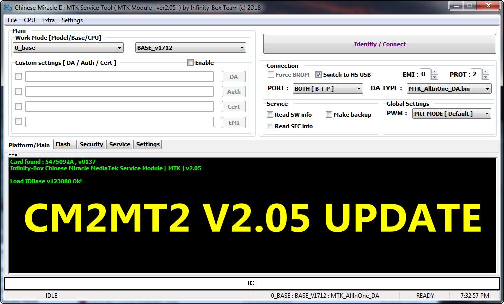 InfinityBox install CM2MT2 v2.05