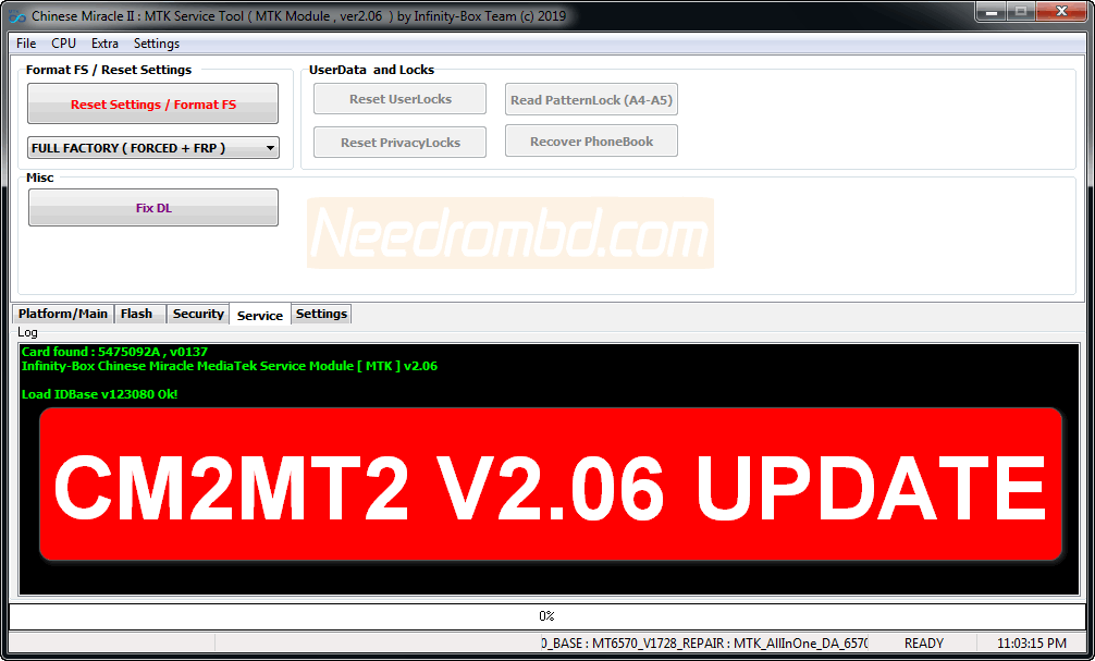 InfinityBox CM2MT2 v2 06 Update Setup File | Needrombd