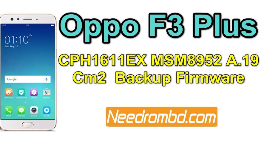 Oppo F3 Plus Firmware