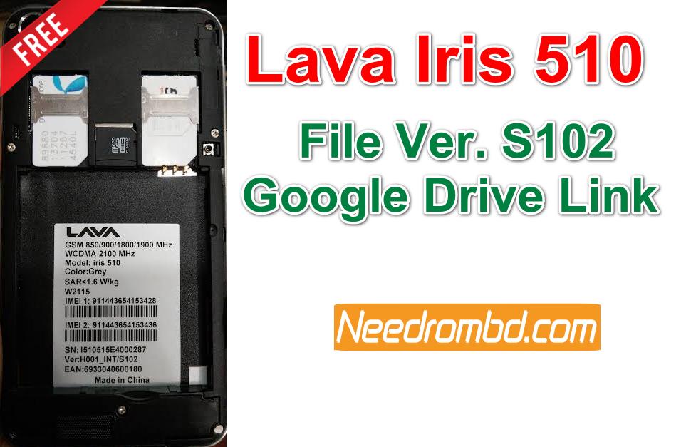 Lava Iris 510 S102 Firmware