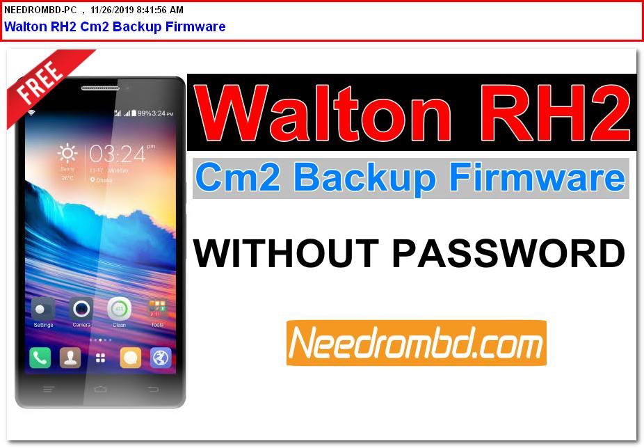 Walton RH2 Cm2 Backup Flash File